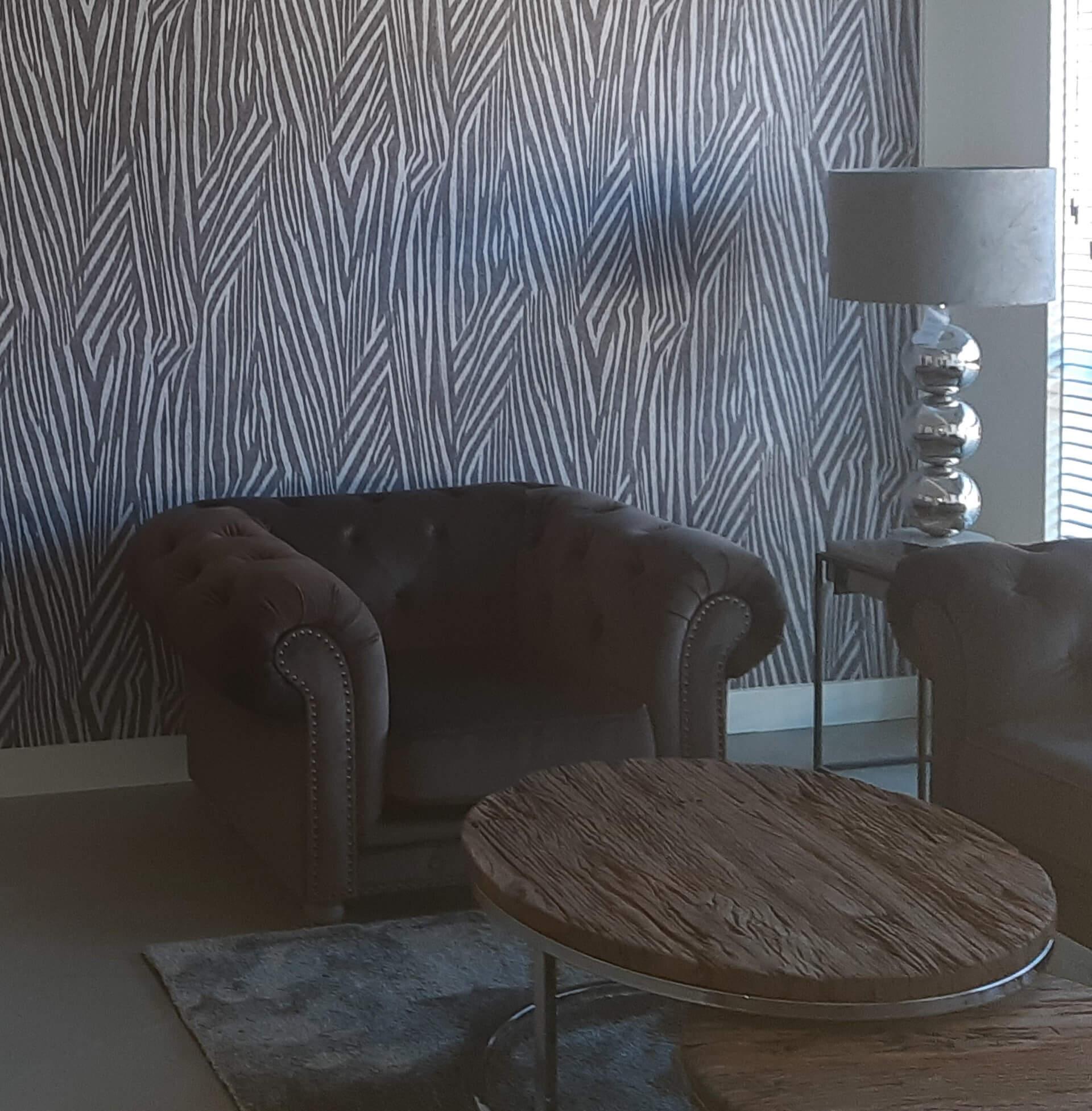 woonkamer design vliesbehang